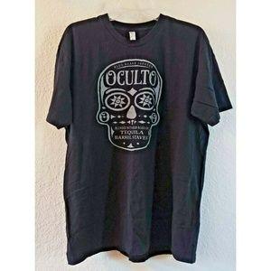American Apparel Oculto Tequila Beer Skull T-Shirt
